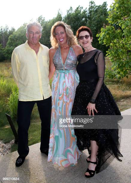 Campion Platt Tatiana Platt and Terrie Sultan attend the 2018 Parrish Art Museum Midsummer Party at the Parrish Art Museum on July 14 2018 in Water...