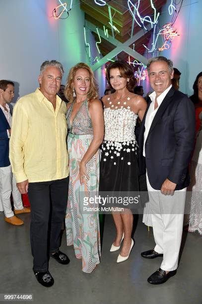Campion Platt Tatiana Platt Lydia Touzet and Rudy Touzet attend the Parrish Art Museum Midsummer Party 2018 at Parrish Art Museum on July 14 2018 in...