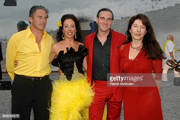 Campion Platt, Tatiana Platt, Paolo Canevari and Marina Abramovic attend VOOM Zoo The14th Annual WATERMILL CENTER Summer Benefit at The Watermill...