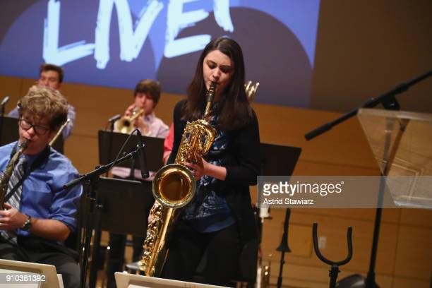 CampJazz Session students perform on stage at the GRAMMY Museum®'s ninth annual GRAMMY In The Schools® Live A Celebration Of Music Education...