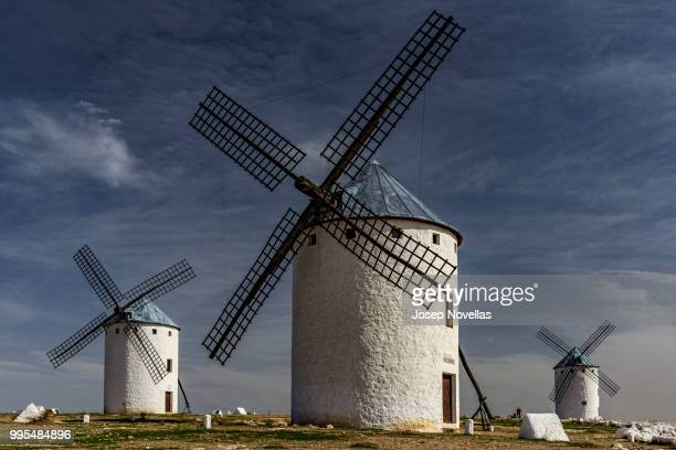 campo de criptana - old windmill stock photos and pictures