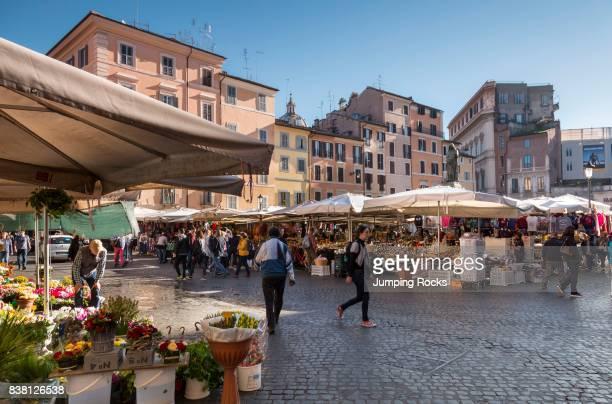 Campo De Fiori market Rome Italy