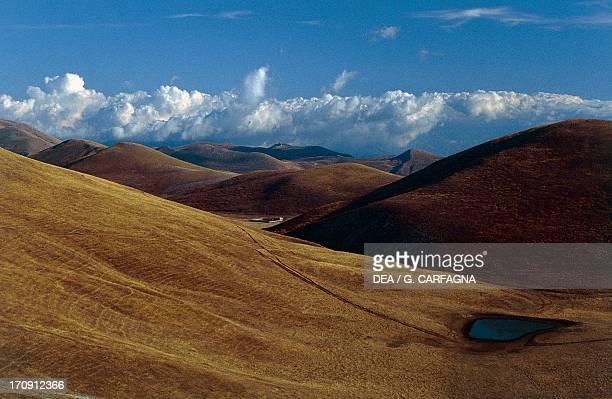 Campo Imperatore, Gran Sasso, Gran Sasso and Monti della Laga National Park, Abruzzo, Italy.