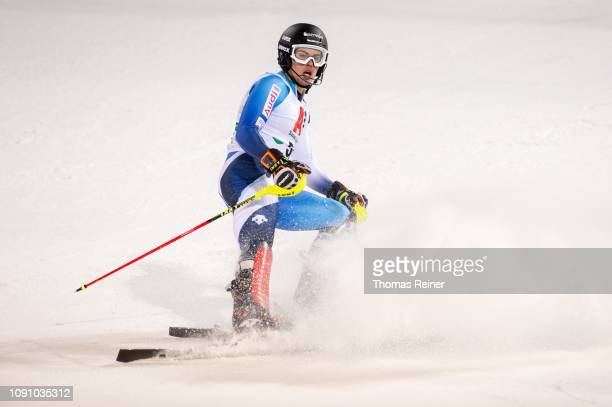 Campo Juan Del of Spain competes at Audi FIS Alpine Ski World Cup - Men's Slalom Schladming on January 29, 2019 in Schladming, Austria.