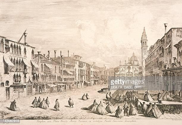 Campo Santa Maria Formosa in Venice by Michele Marieschi engraving Italy 18th century