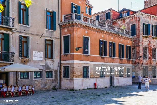 campo sant'anzolo square in venice, italy - campo santo stefano stock pictures, royalty-free photos & images