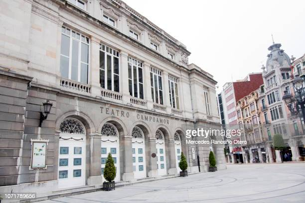 campoamor theatre, oviedo, asturias, spain. - oviedo stock pictures, royalty-free photos & images