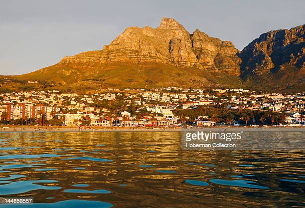 Camps Bay Beach with Table Mountain behind Cape Town South Africa