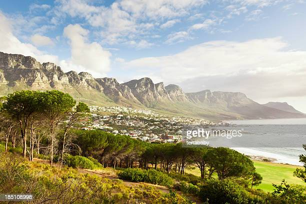 camps bay cape town suburb south africa - table mountain stock pictures, royalty-free photos & images