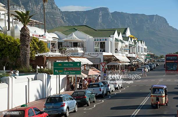 Camps Bay seaside resort close to Cape Town South Africa