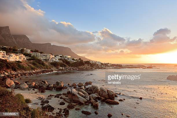 Camps Bay Sunset Scene Cape Town South Africa