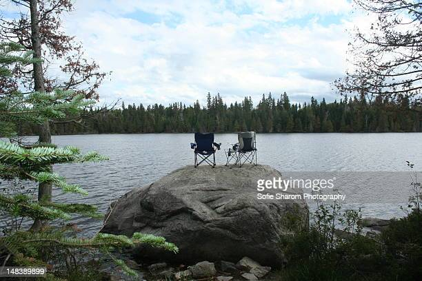campsite for two - lake superior provincial park stock pictures, royalty-free photos & images