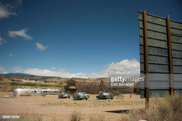 A campsite with vintage Airstream mobile homes is seen in Escalante Utah on April 17 2018 Escalante is a city in Garfield County Utah United States...