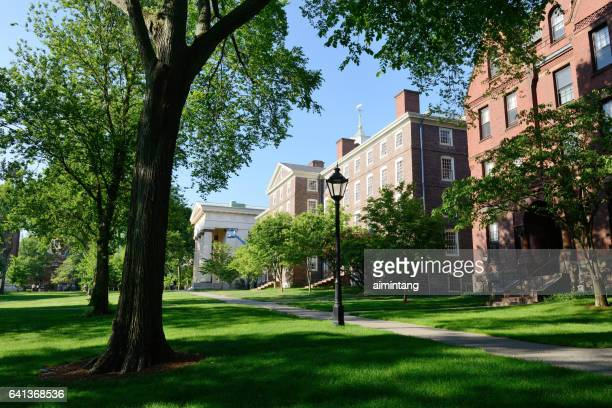 campus of brown university - brown imagens e fotografias de stock