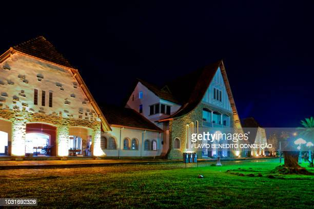campus of the state university of londrina and historical museum of londrina in the city of londrina in brazil colonized by the british constructions - state stock pictures, royalty-free photos & images