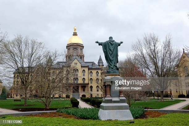 Campus scene University of Notre Dame in South Bend Indiana.