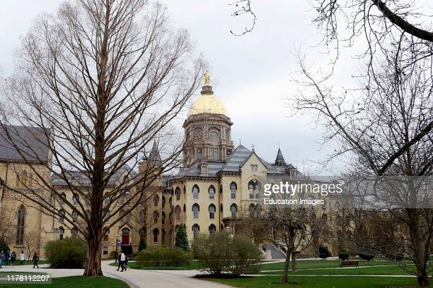 Campus scene University of Notre Dame in South Bend Indiana