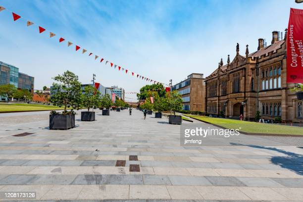 campus scenery of the university of sydney, australia. - university of sydney stock pictures, royalty-free photos & images
