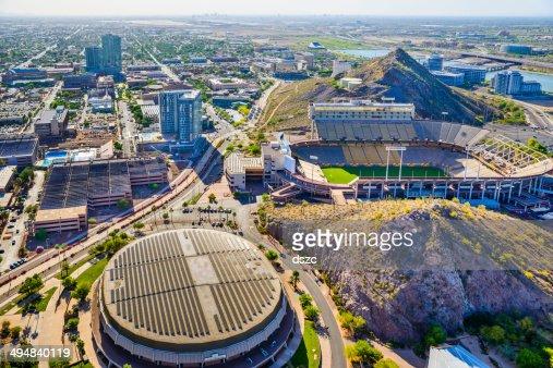 Asu Campus Tempe Az Sun Devil Football Stadium Aerial View