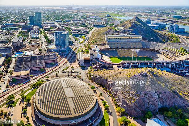 ASU campus Tempe AZ Sun Devil Football Stadium aerial view