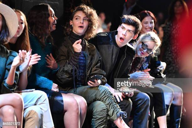 Camren Bicondova and Aidan Alexander attend Vivienne Tam fashion show during New York Fashion Week The Shows at Gallery 1 Skylight Clarkson Sq on...