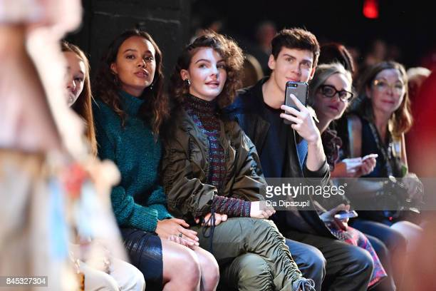 Camren Bicondova and Aidan Alexander attends Vivienne Tam fashion show during New York Fashion Week The Shows at Gallery 1 Skylight Clarkson Sq on...