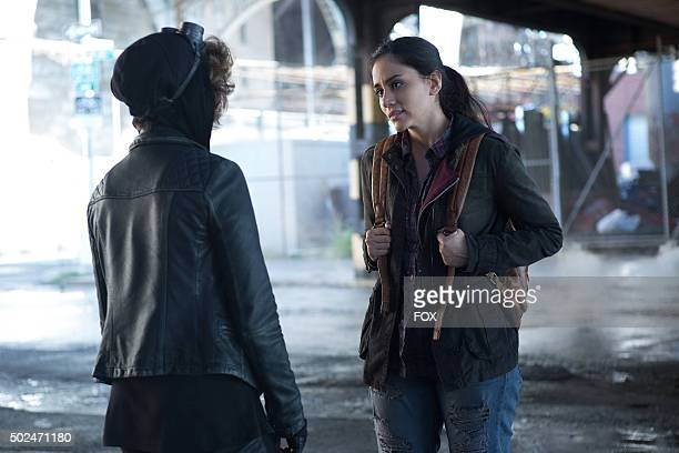 Camren Bicondova and guest star Michelle Veintimilla as Bridget Pike in the Rise of the Villains By Fire episode of GOTHAM airing Monday Oct 26 on FOX