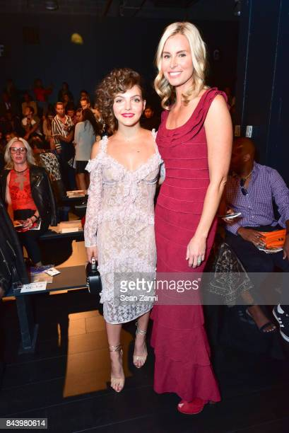 Camren Bicondova and Niki Taylor attend Tadashi Shoji show at New York Fashion Week at Gallery 1, Skylight Clarkson Sq on September 7, 2017 in New...