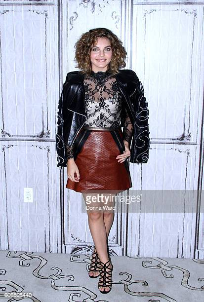 Camren Bicondova appears to promote Gotham during the AOL BUILD Series at AOL HQ on September 16 2016 in New York City