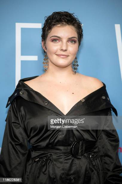 """Camren Bicondova arrives at the premiere of HBO's """"Lindsey Vonn: The Final Season"""" at Writers Guild Theater on November 07, 2019 in Beverly Hills,..."""