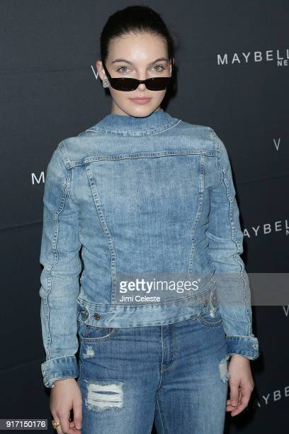 Camren Bicondova attends Maybelline New York and V Magazine host New York Fashion Week Party at Nomo Soho Hotel on February 11 2018 in New York City