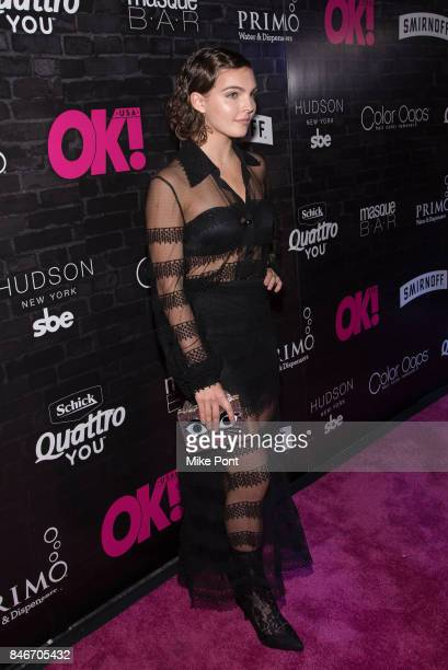 Camren Bicondova attends OK Magazine's Fall Fashion Week 2017 Event at Hudson Hotel on September 13 2017 in New York City