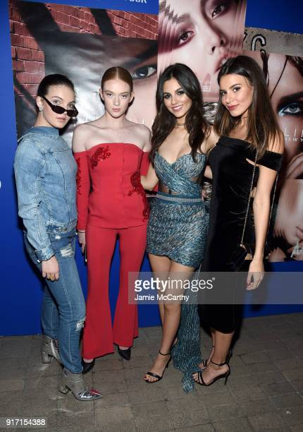 Camren Bicondova Larsen Thompson Victoria Justice and Madison Reed attend the Maybelline New York x V Magazine Party at the Nomo Soho Hotel on...