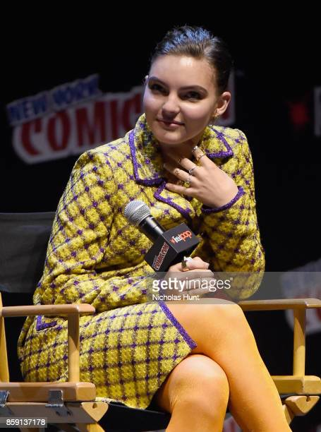 Camren Bicondova speaks onstage at the Gotham Panel during the 2017 New York Comic Con on October 8 2017 in New York City