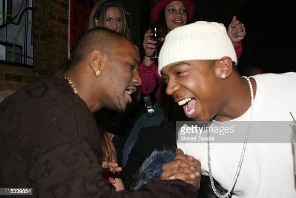 Cam'ron and Ja Rule during Olympus Fashion Week Fall 2005 Sweetface by Jennifer Lopez and Andy Hilfiger After Party at Ruby Falls in New York City...