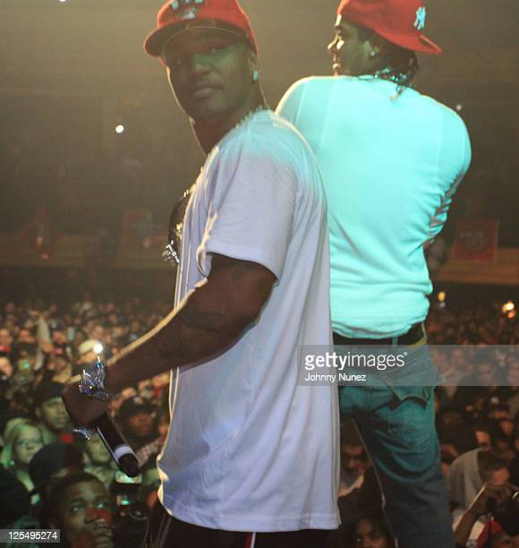 Cam'ron and Jim Jones perform during The Dipset Reunion at Hammerstein Ballroom on November 26 2010 in New York City