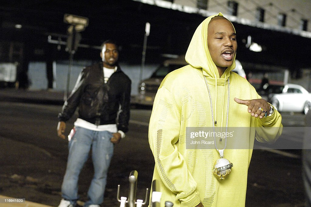 """Cam'ron on the Set of """"Down and Out"""" Music Video - April 21, 2005"""