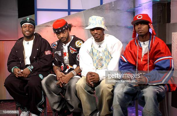 Cam'ron and the Diplomats during Cam'ron and The Diplomats Stop by MTV2 Hip Hop at MTV Studios Times Square in New York City New York United States