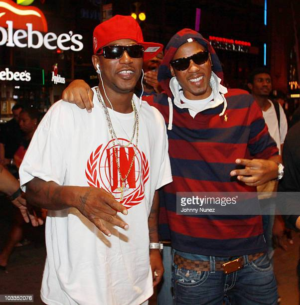 Camron and Vado attend Funkmaster Flex's birthday party at B.B. King Blues Club & Grill on August 11, 2010 in New York City.