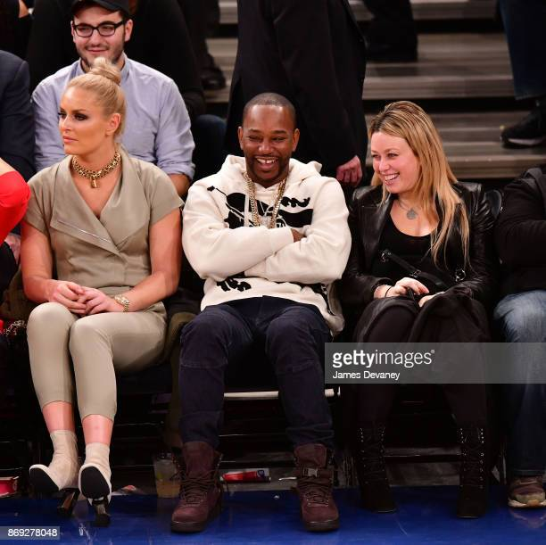 Cam'ron attends the Houston Rockets Vs New York Knicks game at Madison Square Garden on November 1 2017 in New York City