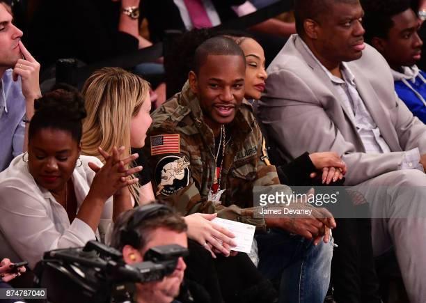 Cam'ron attends the Utah Jazz Vs New York Knicks game at Madison Square Garden on November 15 2017 in New York City