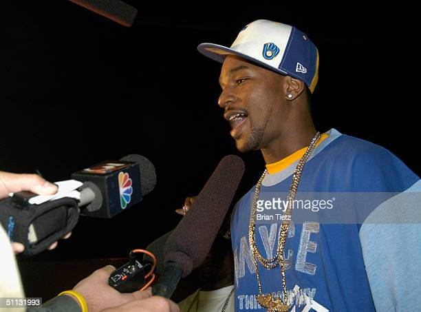Cam'ron attends Tyson Vs. Williams fight held at Freedom Hall July 30, 2004 in Louisville, Kentucky.