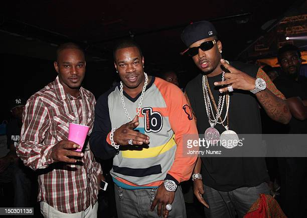 Cam'ron Busta Rhymes and SB attend Nicki Minaj Pink Friday Tour at Roseland Ballroom on August 14 2012 in New York City