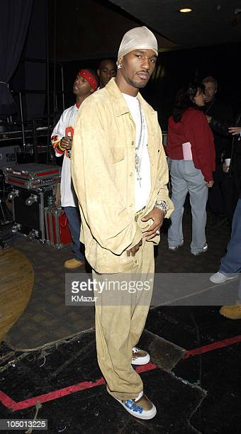Cam'ron during 2002 MTV's 'Fashionably Loud' Backstage at Roseland in New York New York United States