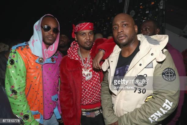 Cam'ron Juelz Santana and Freekey Zekey attend Spotify's RapCaviar Live in New York at Hammerstein Ballroom on November 21 2017 in New York City