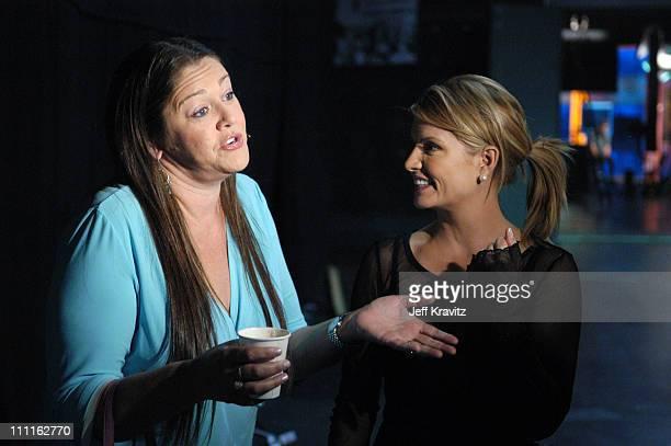 Camryn Manheim and Dayna Devon during Celebrity Blackjack Matt Vasgersian hosts Celebrity Blackjack a one hour weekly tournament featuring 40 stars...