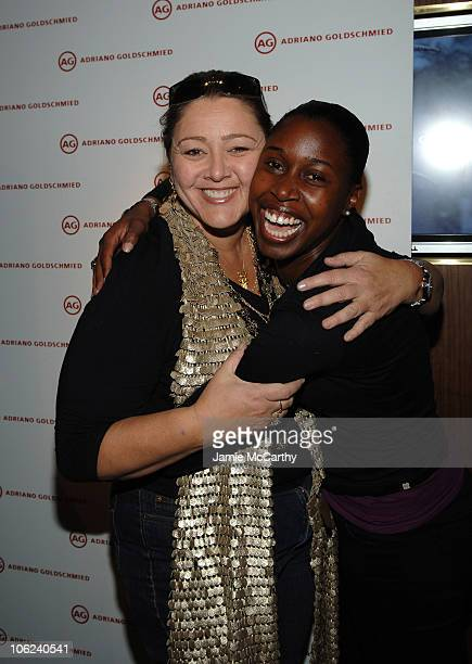 Camryn Manheim and guest during 2007 Park City - Marquee Lounge - Day 3 at Harry O's in Park City, Utah, United States.