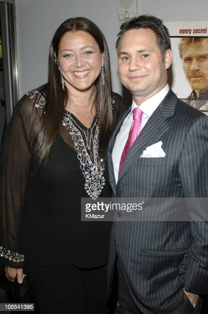 Camryn Manheim and Jason Binn during An Unfinished Life New York City Premiere Inside Arrivals at Directors Guild of America Theater in New York City...