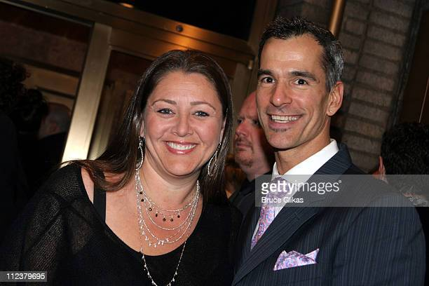 "Camryn Manheim and Jerry Mitchell during Billy Crystal Makes His Broadway Debut in ""700 Sundays"" at The Broadhurst Theater/Tavern on the Green in New..."