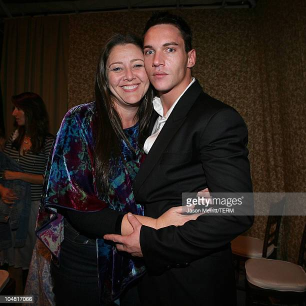 """Camryn Manheim and Jonathan Rhys-Meyers during """"Match Point"""" Los Angeles Premiere - After Party at LACMA in Hollywood, California, United States."""